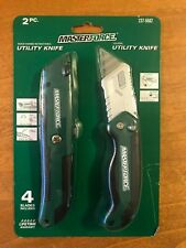 New listing Masterforce Utility Knife Switch/Fixed - 2 pcs in pack.Free Shipping!