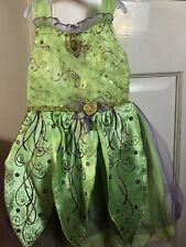 Disney Fairies Tinkerbell Dress With Wings Age 3-4