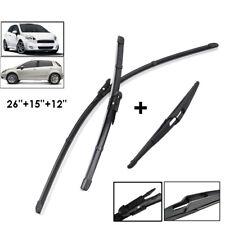 Fit For Fiat Grande Punto 05-11 Evo 09-13 Front Rear Flat Windscreen Wiper Set