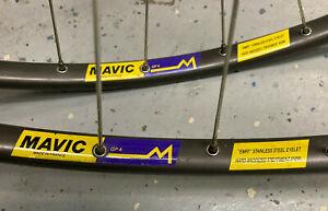 Campagnolo Record Mavic GP4 tubular wheelset 32h 6 speed with original skewers