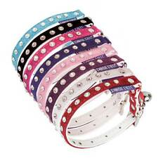 Posh Petz® Diamante Crystal Velvet Adjustable Cat Safety Collar With Bell