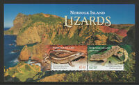 Norfolk Island 2021 : Lizards - Minisheet - Mint Never Hinged