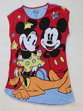 Mickey Minnie Mouse nightgown pajamas womens Large XL nightshirt new pluto 14-18