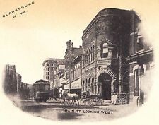 Envelope & Stationery Showing Main Street Looking West, Clarksburg WV