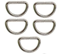 "Nickel Plated D-Ring Non Welded 3/4"" (5 pk) For Making Paracord Items 241-5"
