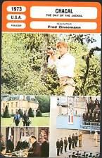 CHACAL - Fox,Alexander,Zinnemann (Fiche Cinéma mod.A)1973 The Day of the Jackal
