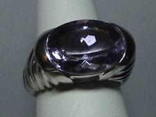 NUEVO Plata de Ley Original anillo de amatista