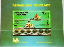 TOGO 1980 Block 155 A Summer Olympics Moscow Rudern Rowing Sport Gold Foil MNH