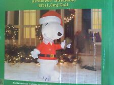 Peanuts Christmas SNOOPY !   6 ft. Inflatable NIB