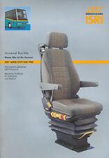 Isri 6800/337/338 Pro Bus-Sitz Prospekt 2002 brochure omnibus seat prospectus