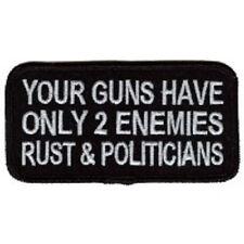 YOUR GUNS HAVE 2 ENEMIES BIKER PATCH