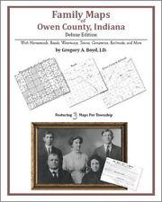 Family Maps Owen County Indiana Genealogy Plat History