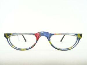 Bunte Damenbrillen Lesebrille handmade aus Kunststoff mit Seide unterlegt Gr. M