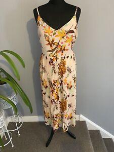 Vera Moda Summer Dress Strappy Pleat Skirt Size Xl