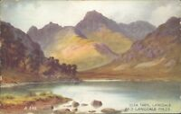 Blea tarn & langdale pikes valentine c1940 art colour A 849