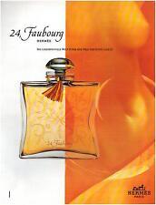 ▬► PUBLICITE ADVERTISING AD Parfum Perfume 24, Faubourg Hermès  1996