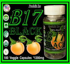 Prodalin Inc Vitamin B17 Black Edition 1200mg Per Dose Absorbing Apricot Kernels