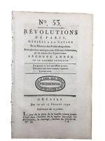 Rare Journal Révolution Française 1790 Hôpital de la Pitié Paris Louis 16 Riston