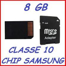 Memory card SD Velocità di trasferimento Classe 10 per cellulari e palmari con 8 GB di archiviazione