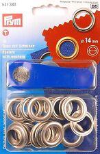Ösen und Scheiben 14 0mm Silberfarbig 10 St Prym 541383