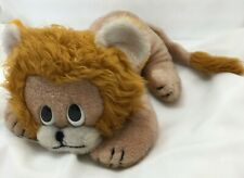 "Lion Tan Brown White Vintage Handmade Kamar Plush 16"" Lovey Toy Korea"