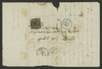 Roman States Italy Stamp Scott #4 on 1862 Cover, Single Franking