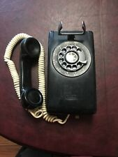 Vintage 1959 Black Western Electric 554 A/B Rotary Dial Wall Mount Telephone