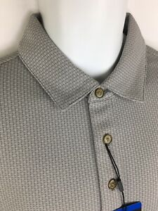 Pebble Beach Large Mens Gray Dry-Luxe Performance Golf Polo Shirt