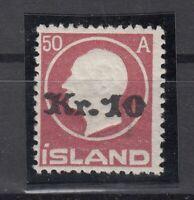 BB5647/ ICELAND – MI # 120 MINT MH CERTIFICATE SIGNED BRUN - CV 830 $