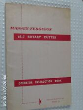 Massey-Ferguson 65-7 Rotary Cutter Instruction Book