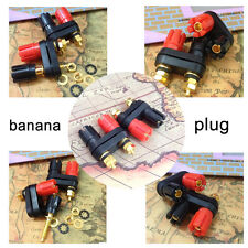 1 Dual Female Banana Plug Terminal Binding Post for Speaker Amplifier LW useful