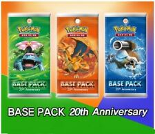 3 Booster Pokémon XY : 20th Anniversaire Base Pack - Coréen