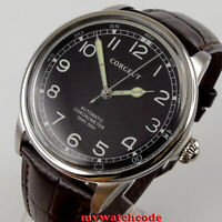 Corgeut 41MM mens watch black dial miyota 8215 automatic mechanical mens watch