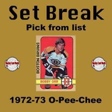 (HCW) 1972-73 O-Pee-Chee NHL Hockey Cards Set Break #5 - Pick From List