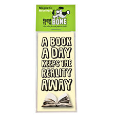 #628 MAGNETIC BOOKMARK A Book A Day funny present rude Any Occasion Gift