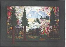 Bear Country (Black Bears) Watercolor Quilt Kit  Whims