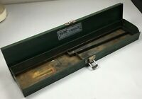 "Vintage S-K Tools Green Metal Tool Box for Ratchets Sockets SK 15"" x 3"" x 1-1/2"""