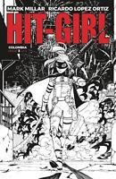 Hit-girl #3 IMAGE COMICS Cover B Variant SKETCH BLACK WHITE