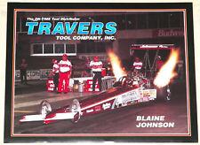 "ORIGINAL VINTAGE 1995 ""BLAINE JOHNSON"" TOP FUEL DRAGSTER DRAG RACING HANDOUT!!"