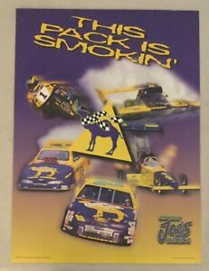 Nascar 1996 Smokin Joe's Racing Poster This Pack Is Smokin'