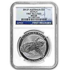 Brand New 2012P Australian Silver Koala 1oz First Releases NGC MS69 Graded Coin