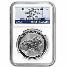 New 2012P Australian Silver Koala 1oz First Releases NGC MS69 Graded Silver Coin