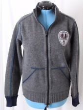 Replay Road Master Gang Patch Knit Gray Sweater Full Zip Jacket Men's XL