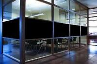 "24"" X 50 FT ROLL BLACKOUT FILM PRIVACY FOR OFFICES,BATH,GLASS DOOR,STOREFRONT"
