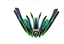 KAWASAKI 800 SXR jet ski STAND UP wrap graphics pwc up decal kit blue splatter