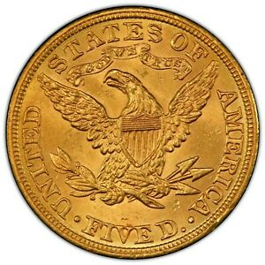 1908 $5 Liberty Gold Half Eagle Liberty Head MS64 !!! PCGS Grade Sparkler Coin