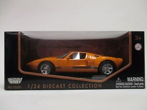 MOTORMAX 1:24 NEW MIB DIECAST VEHICLE COLLECTION FORD GT CONCEPT #73200
