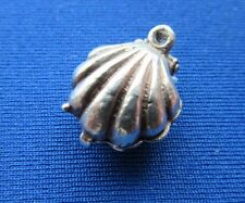 VINTAGE 925 argento Sterling Charm Bracciale Oyster Shell apertura a Sim Pearl