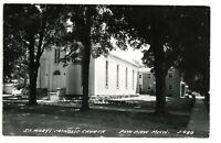 RPPC St Mary's Catholic Church PAW PAW MI Michigan Real Photo Postcard