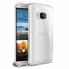 Case/Cover for HTC One M9 + Screen Protector / Clear Silicone Transparent TPU